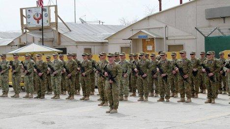 грузинский взвод база Феникс ISAF