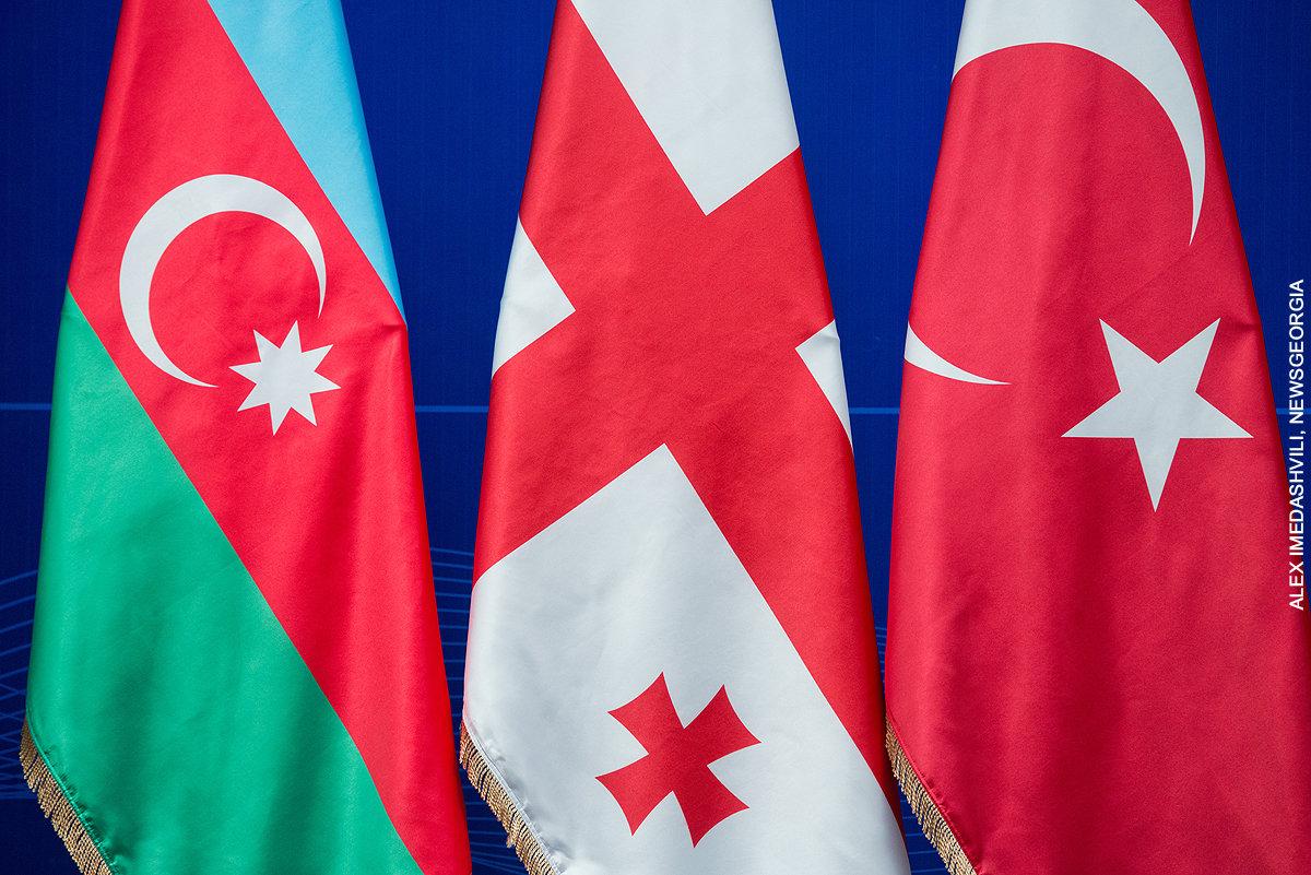 Азербайджан Грузия Турция флаги