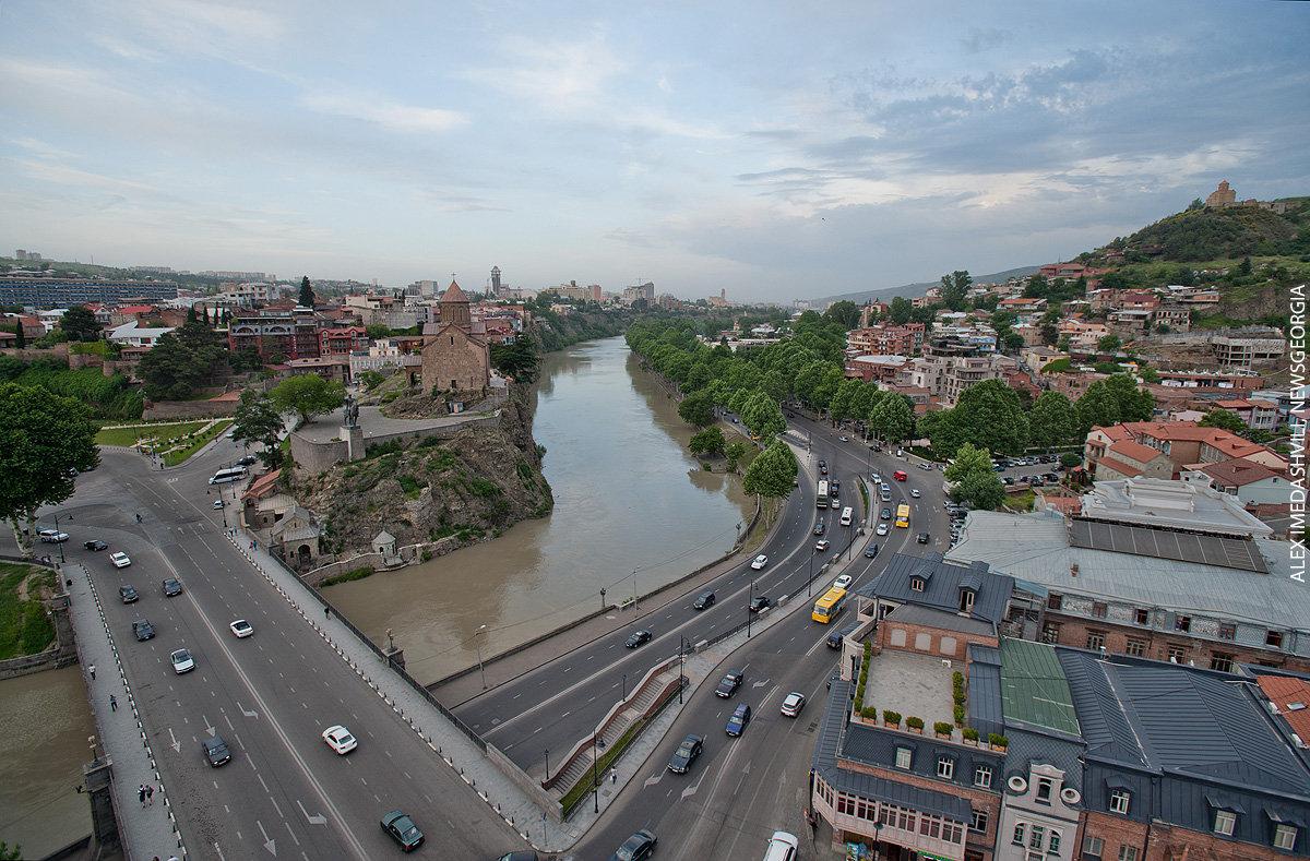 Тбилиси, вид на старый город