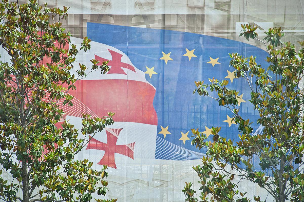 флаги Грузия и ЕС