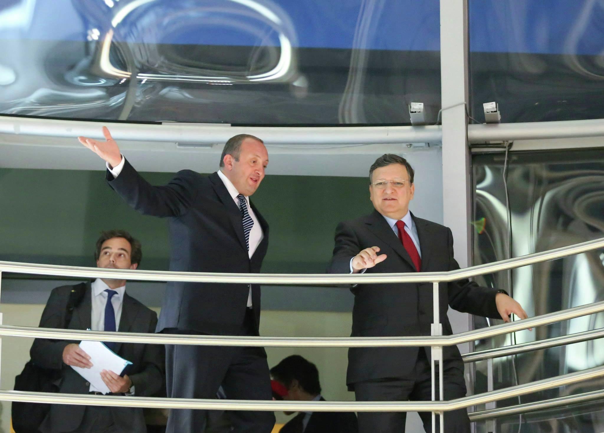 Жозе Мануэл Баррозу и Георгий Маргвелашвили