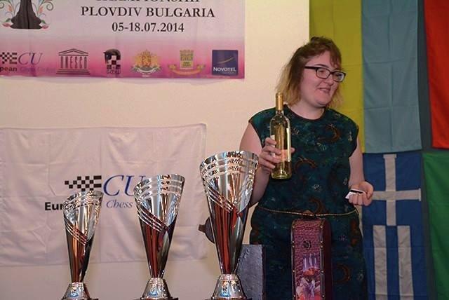 Шахматистка Нана Дзагнидзе на ЧЕ-2014
