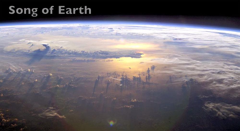 Земля, льды, вид из космоса