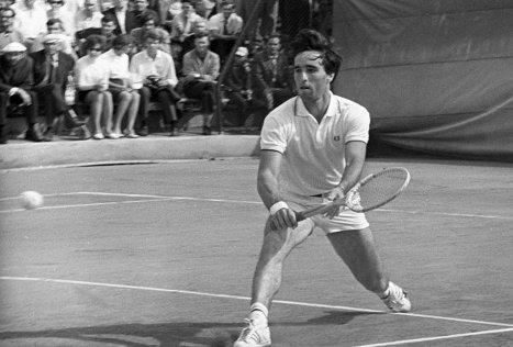 Александр Метревели на Московском международном турнире теннисистов. 1970 г.