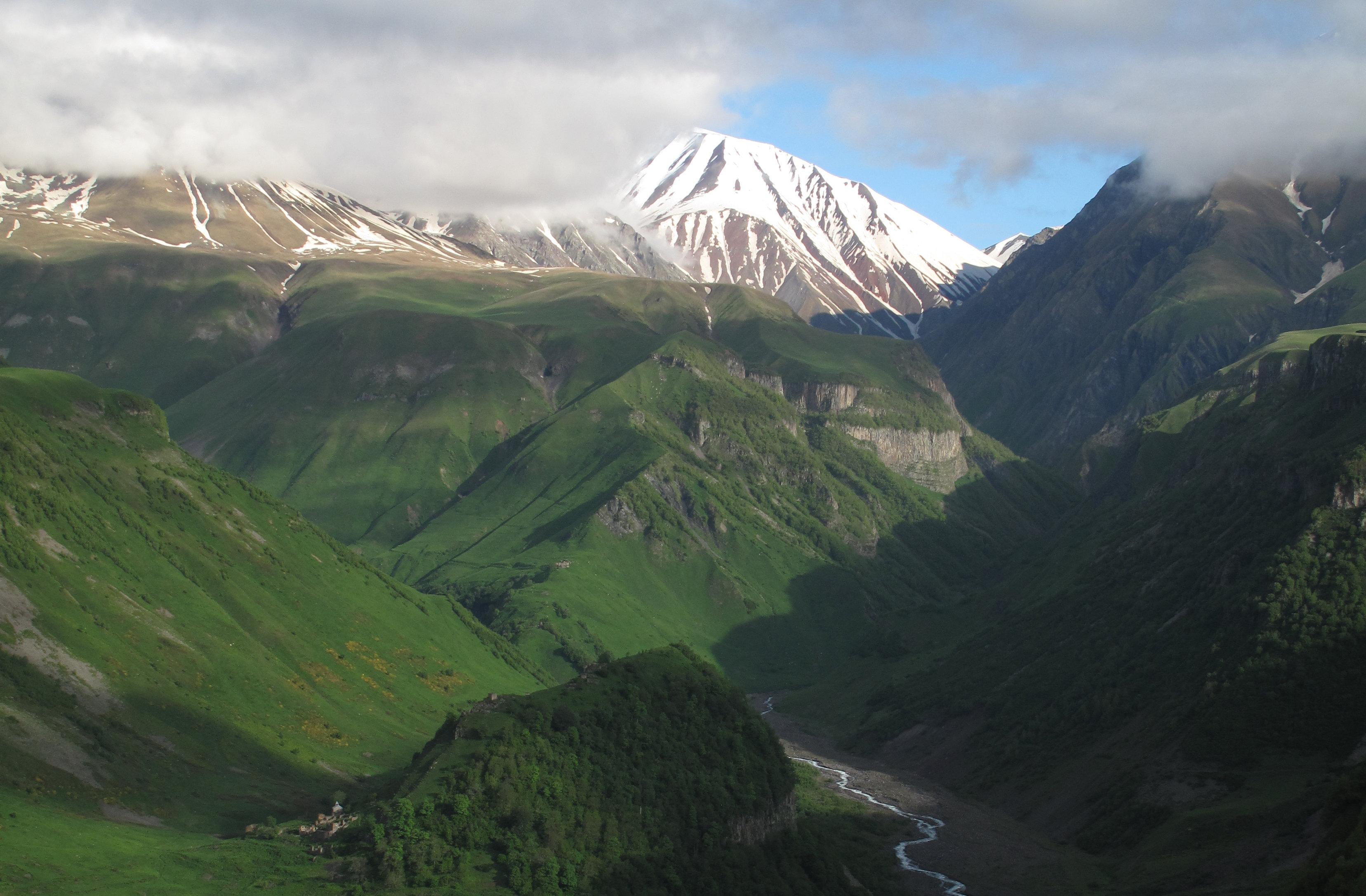 горы граница Грузии и Армении