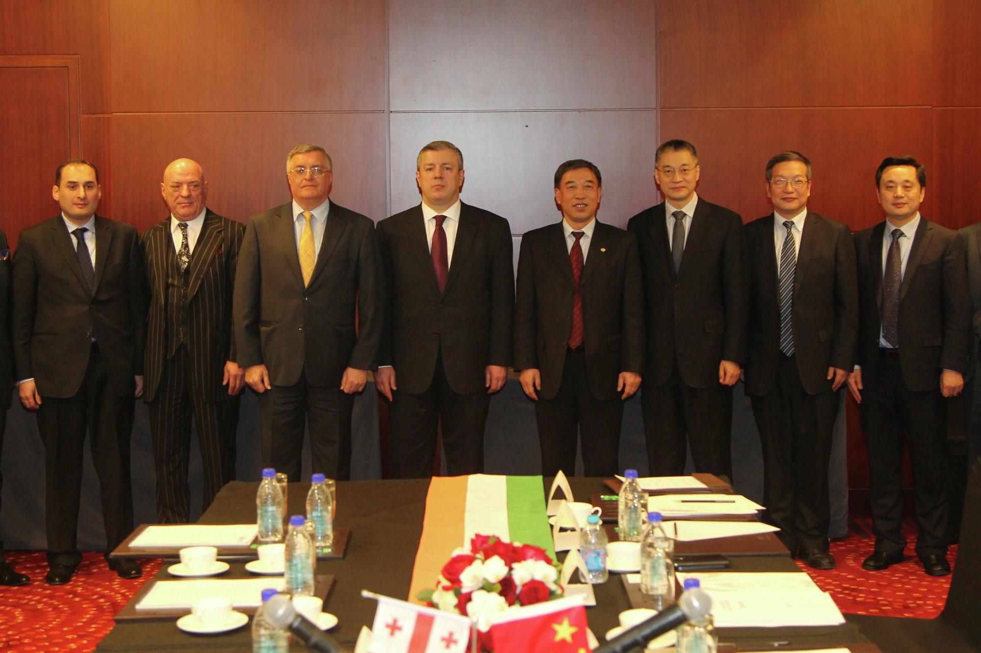 Подписание соглашения между китайской госкомпанией Power China и грузинской Anaklia Industrial Eco Park and Port Ltd