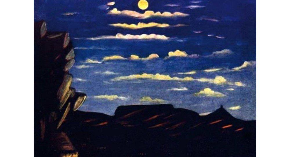 არსენალის მთა ღამით
