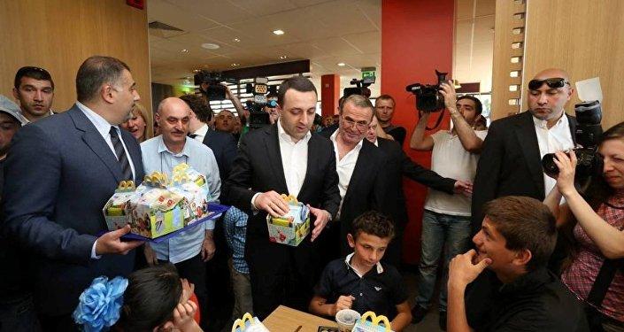 Открытие ресторана McDonald's в Зугдиди