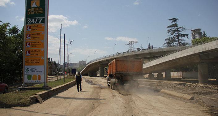 ремонт дорог в Тбилиси