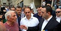 Ираклий Гарибашвили. Всреча с пострадавшими от наводения