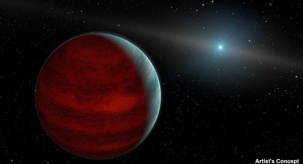 Так художник представил себе планету-«вампира» у звезды PG 0010+28
