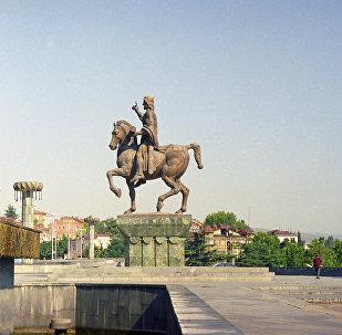 Памятник царю Давиду IV Агмашенебели в Тбилиси