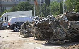 Кладбище погибших автомобилей появилось в центре Тбилиси