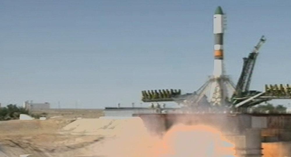 Первый после апрельской аварии запуск Прогресса М28-М. Кадры старта