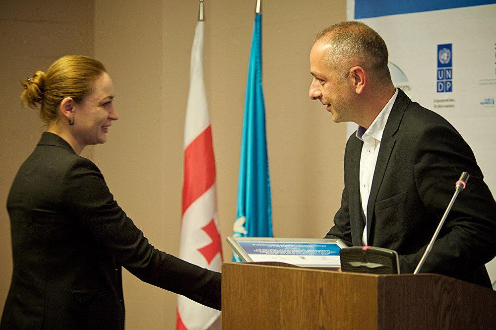 В этом году обладателями наград стали представители ряда государственных и коммерческих учреждений. На церемонии присутствовали представители руководства Грузии.