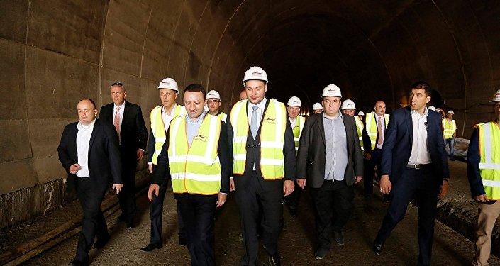 Грузинская железная дорога. ГЖД. Открытие тоннеля