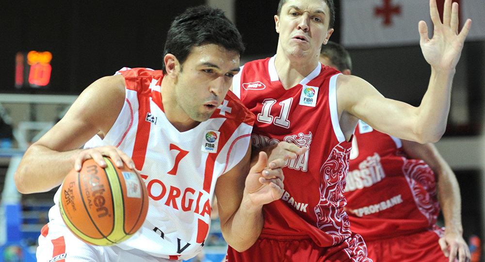 Баскетбол. Чемпионат Европы. Матч Грузия - Россия