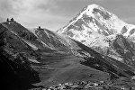 Вид на вершину Казбека