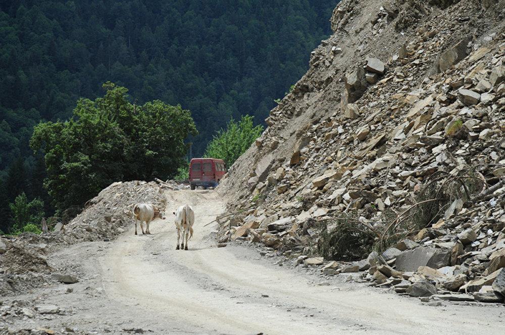 Камнепады и сели являются довольно частыми на дороге.