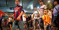 Фанаты Барселоны заполнили улицы Тбилиси