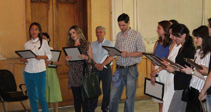 Студенты, принявши участие в проекте Диаспорское стажирование-2015