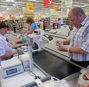 торговля супермаркет касса