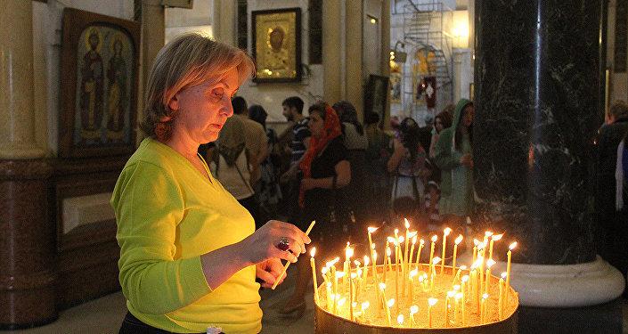 религия церковь верующие собор Самеба