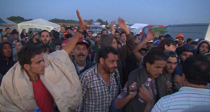 Беженцы в ЕС: толпы на дорогах, палаточные лагеря и акции протеста
