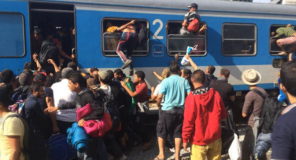 Беженцы через окна лезли в поезд, направляющийся в столицу Хорватии