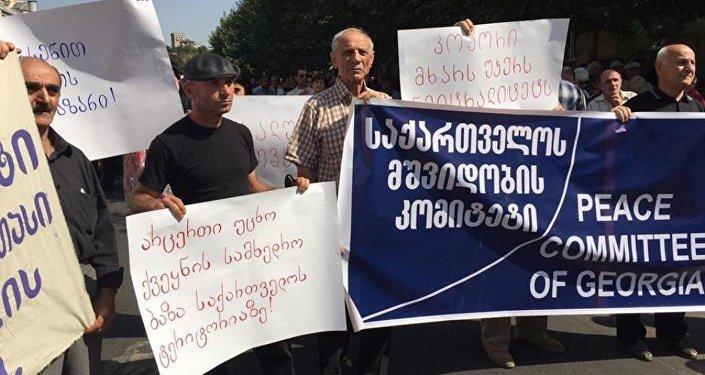 В Тбилиси прошла акция с требованием объявить военный нейтралитет