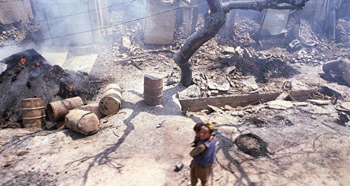 Кундуз после нападения отряда мятежников. Архивное фото