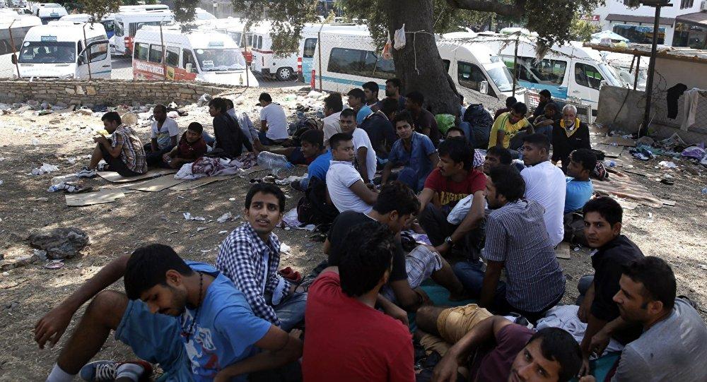 Мигранты с Ближнего Востока в Бодруме