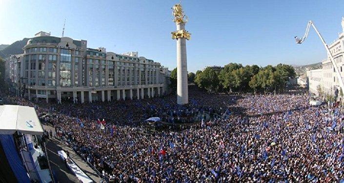 Предвыборый митинг коалиции Грузинская мечта в 2012 году