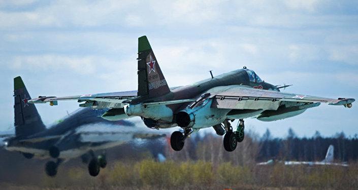 Штурмовик российских ВВС Су-25