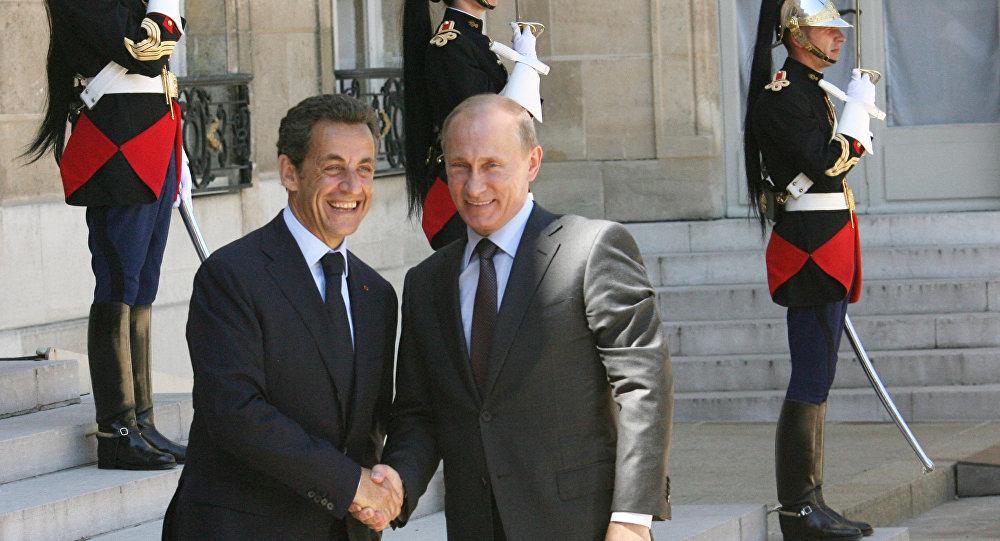 Владимир Путин и Николя Саркози.