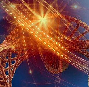 მხატვრის მიერ დანახული დნმ–ის მოლეკულა