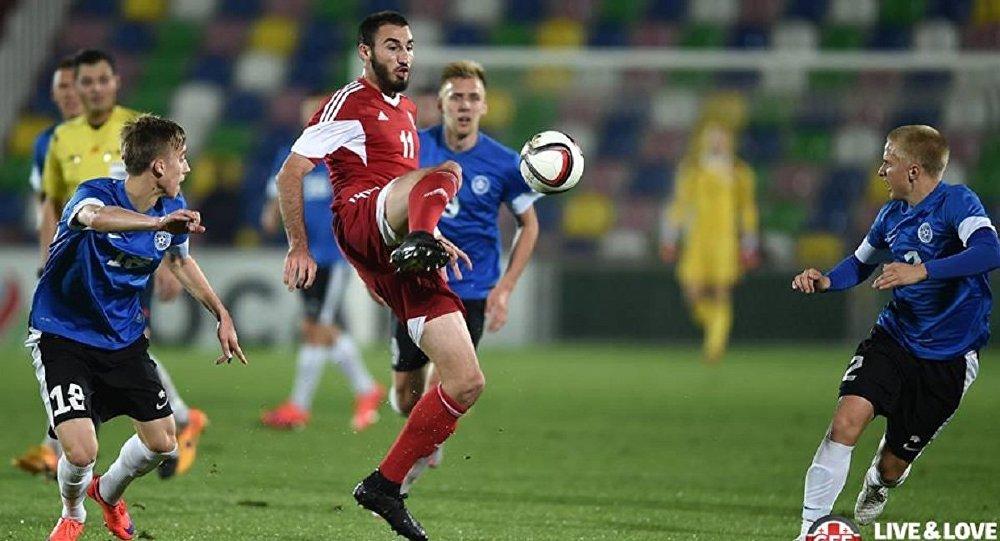 Сборная эстонии пофутболу вгостях обыграла фиджи