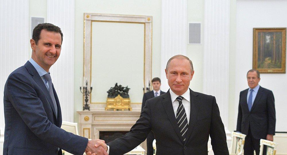 რუსეთისა და სირიის პრეზიდენტების შეხვედრა