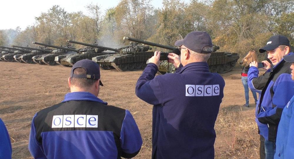Представители ОБСЕ снимали отвод танков ЛНР от линии соприкосновения