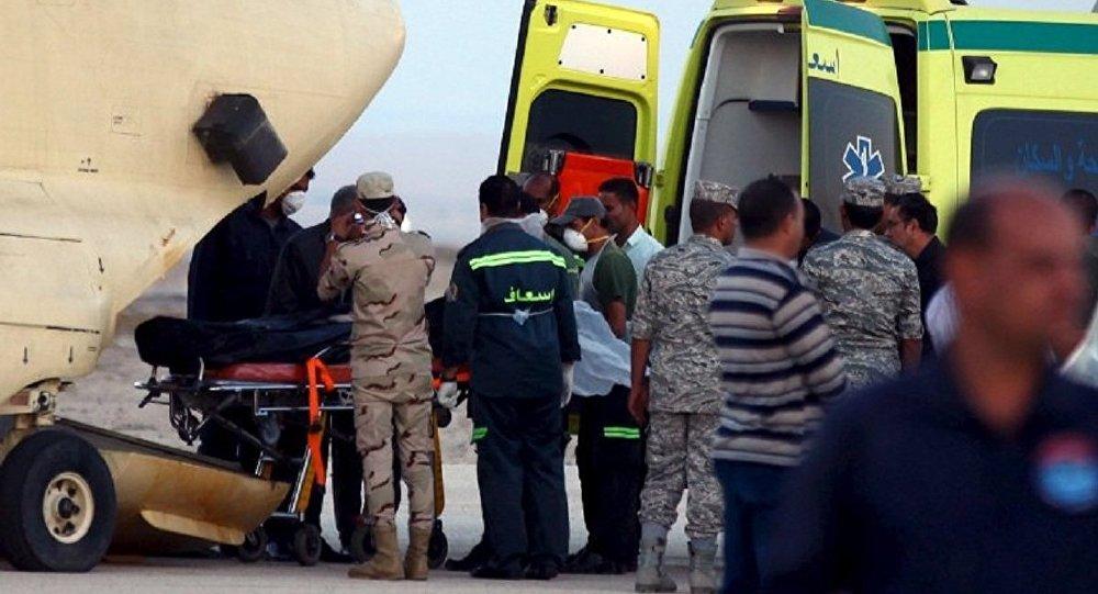 Поисковые работы на месте крушения лайнера А321 в Египте