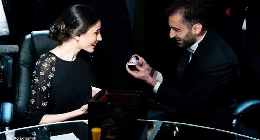 Кольцо в Черном ящике: предложение руки в эфире грузинского ЧГК