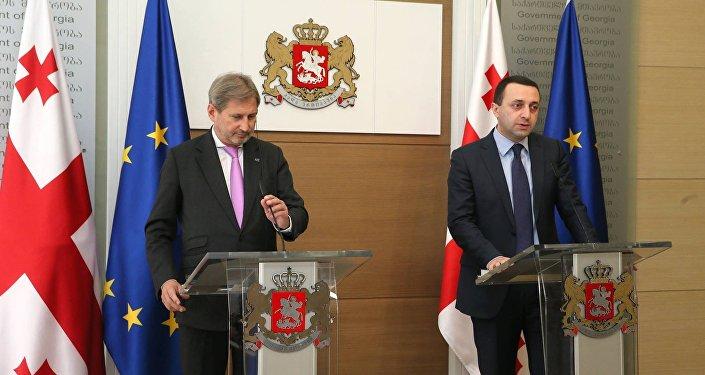 Еврокомиссар по европейской политике соседства и переговорам по расширению Йоханнес Хан