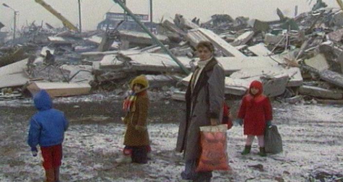ВЗапорожье почтили память погибших вовремя землетрясения вАрмении 1988 года