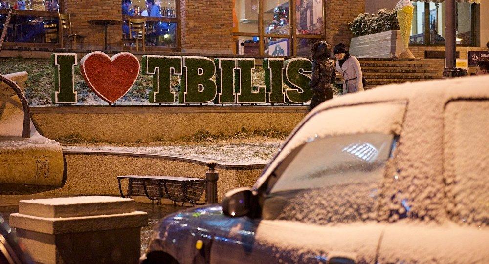 Первый снег в Тбилиси