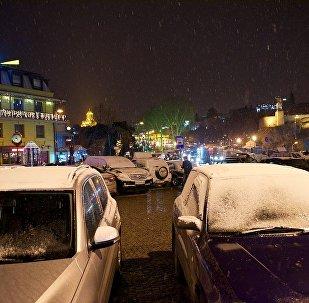 პირველი თოვლი თბილისში