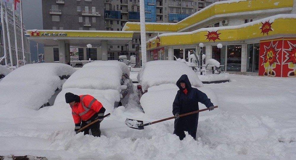 снегопад в Батуми, Аджария