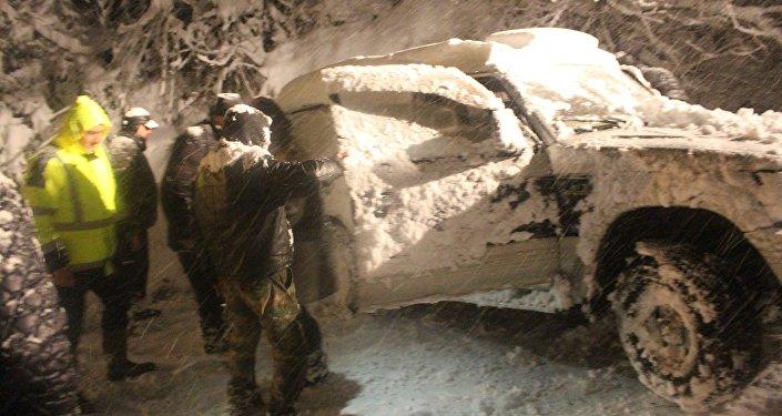 снегопад в Озургети, Гурия