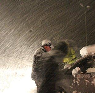 снегопад в Грузии