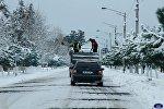 снегопад в Зугдиди, Самегрело