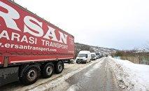 Ограничение движения по дороге из-за заносов